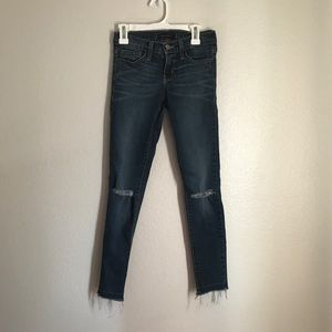 Flying Monkey Ripped Frayed Ends Jeans